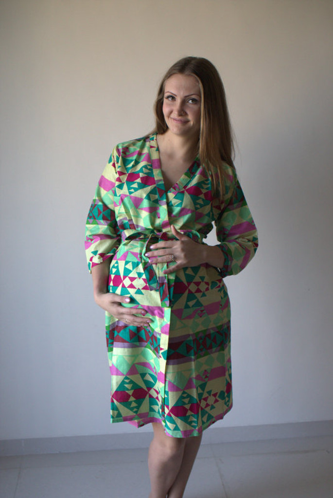Diamond Aztec Maternity Robe