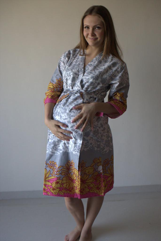 Falling Leaves Maternity Robe