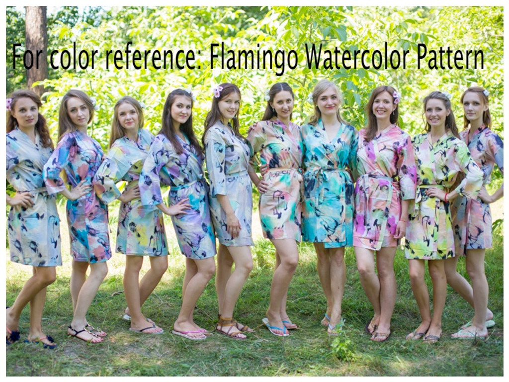 Flamingo Watercolor Maternity Robe