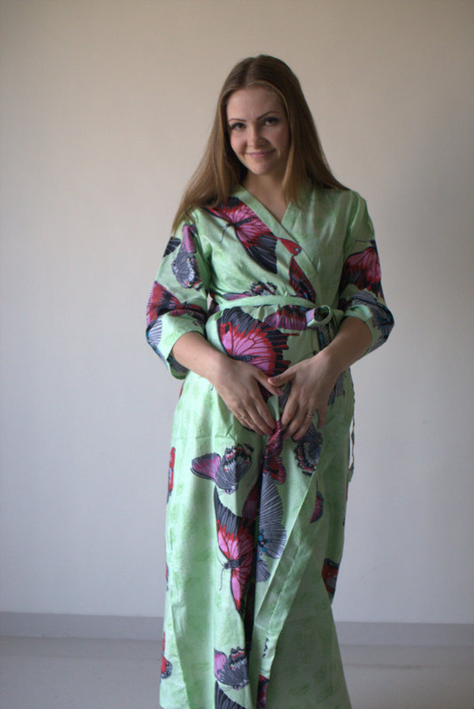 Butterfly Baby Full Length Maternity Robe