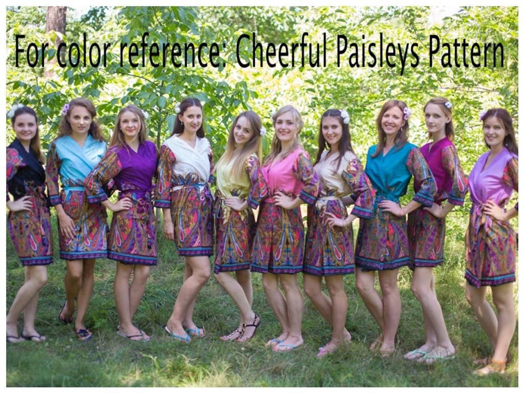 Cheerful Paisleys Full Length Maternity Robe