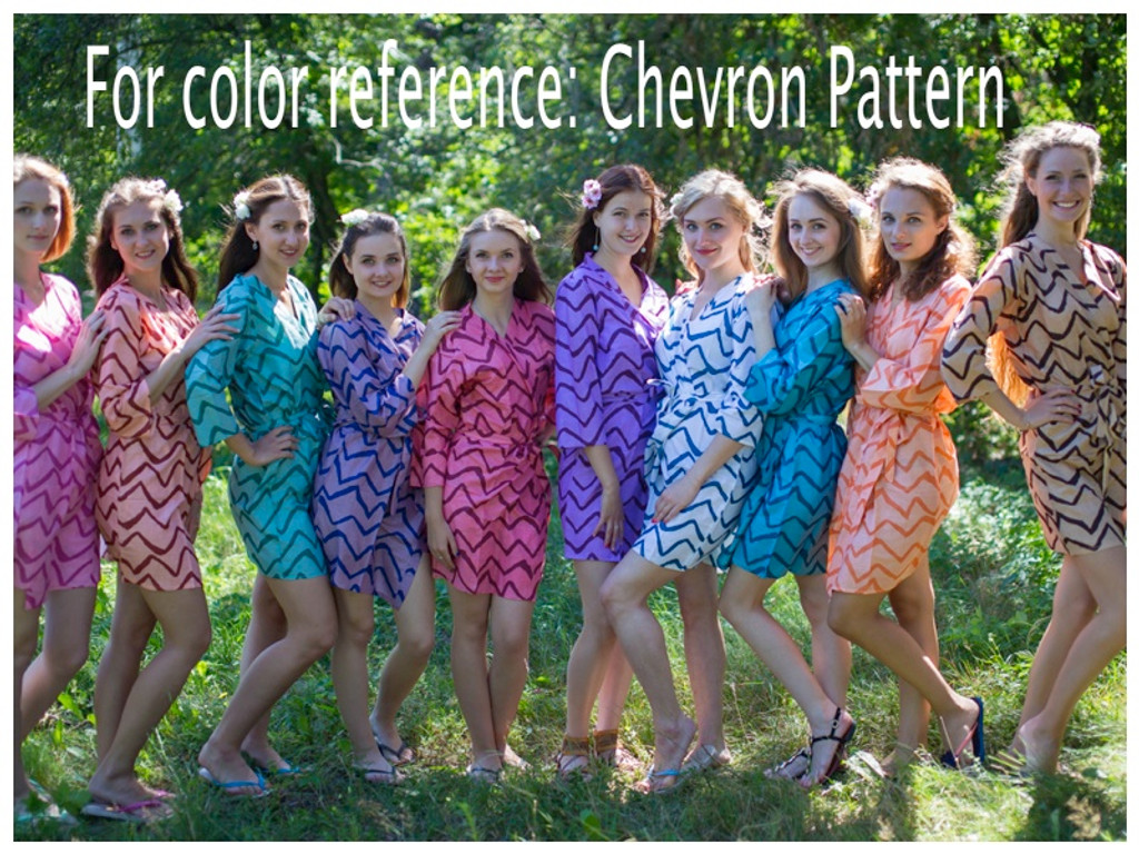 Chevron Full Length Maternity Robe
