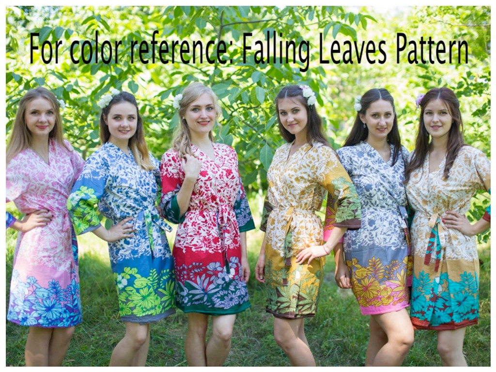 Falling Leaves Full Length Maternity Robe