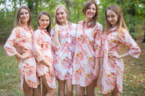 Long Button-Front Shirts for bridesmaids to get ready in
