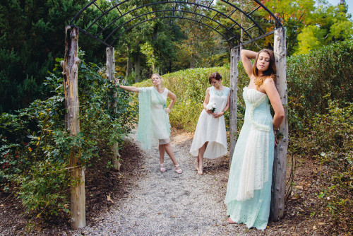 Enchanting Mint Wedding Palette Lace Bridesmaids Dresses