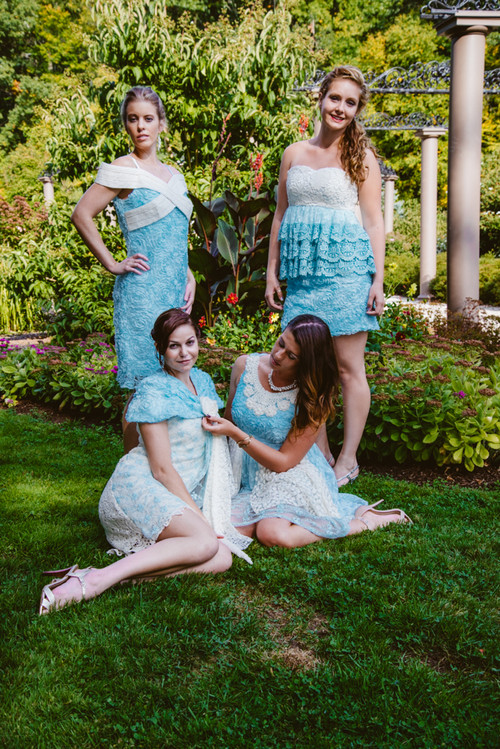 Lacey Turquoise Wedding Palette Bridesmaids Dresses