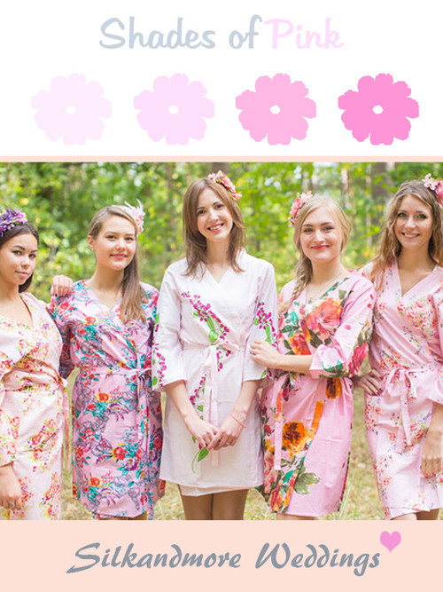 Mismatched Pink Robes