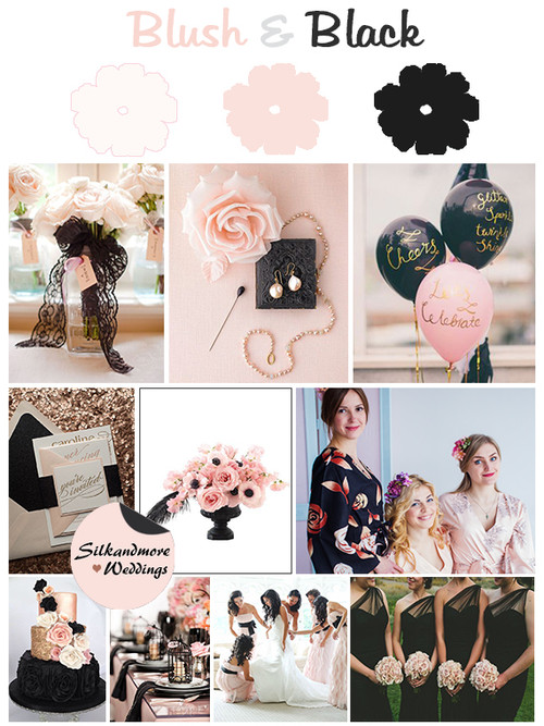 Black and Blush Wedding Colors