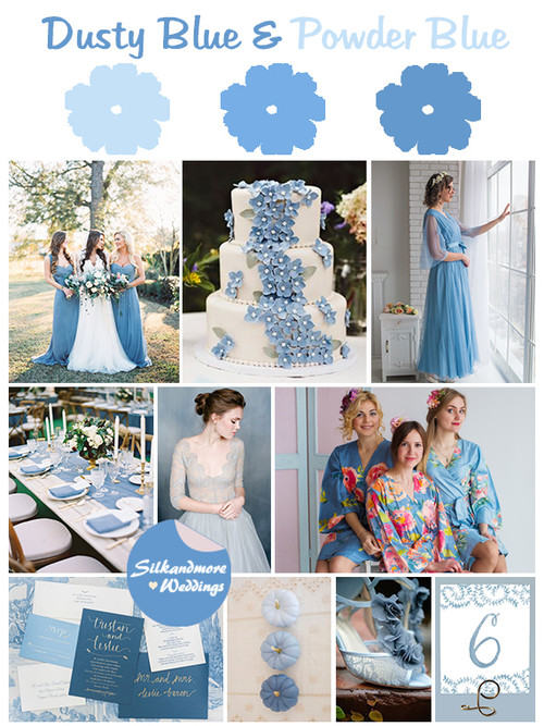 Dusty Blue and Powder Blue Wedding Colors