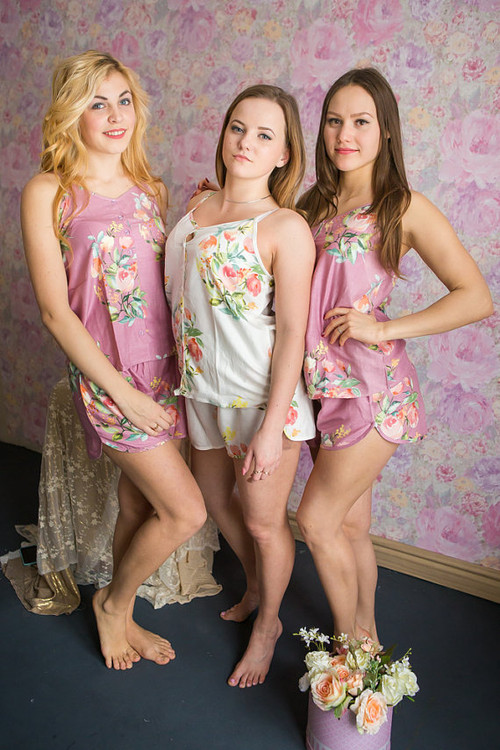 Spaghetti Style PJs Sets in Angel Song Pattern