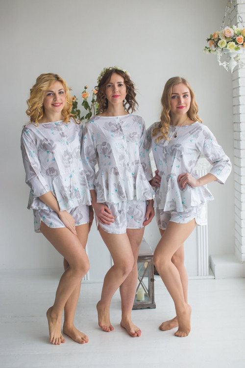 Peplum Style PJs in Blushing Flowers Pattern