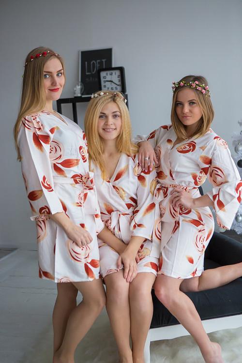 A rumor among Fairies Pattern- Premium White Bridesmaids Robes