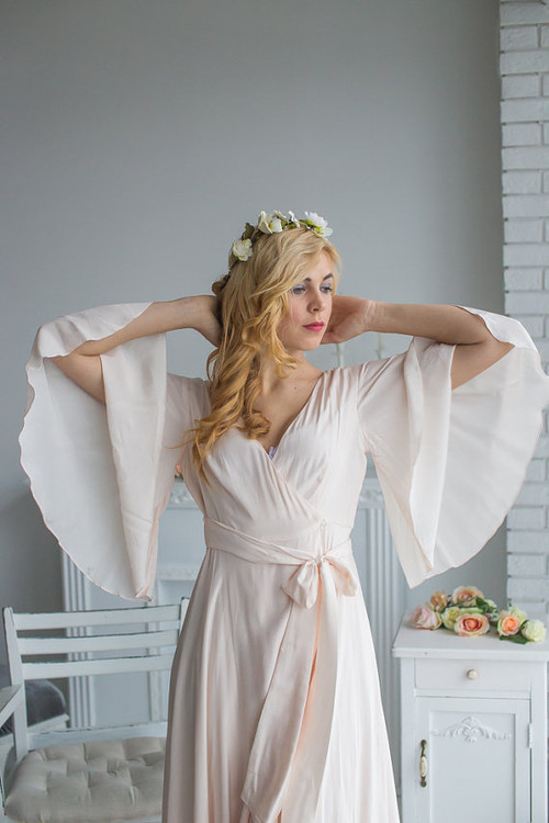 Light Blush Bridal Robe from my Paris Inspirations Collection - Graceland in Blush