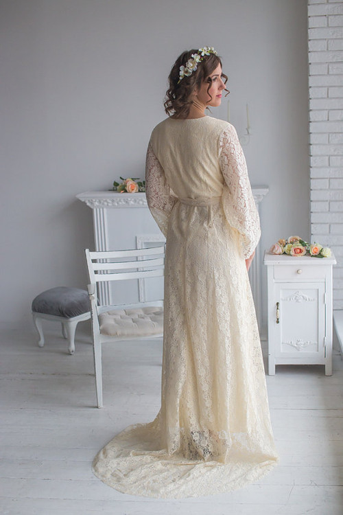 Ivory Bridal Robe from my Paris Inspirations Collection - Flowing Beauty in Ivory