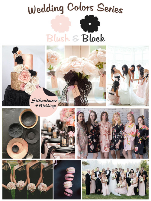Blush & Black Wedding Colors Palette
