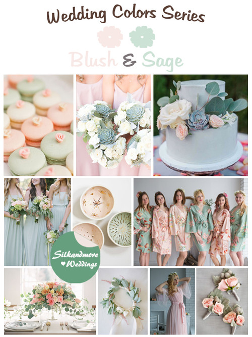 Blush and Sage Wedding Colors Palette