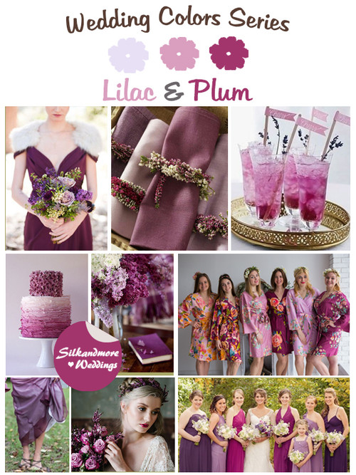 Lilac and Plum Wedding Colors Palette
