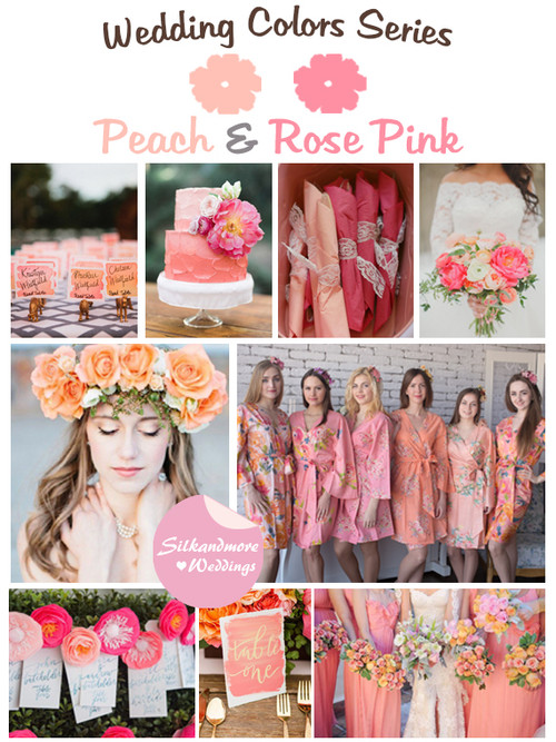 Peach and Rose Pink Wedding Color Palette