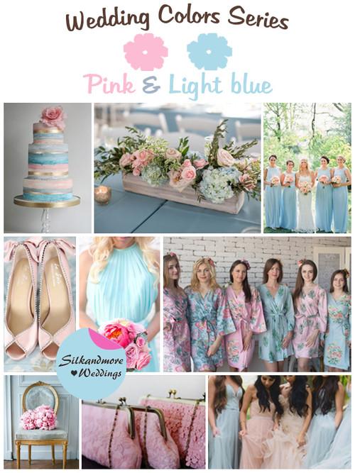 Pink and Light Blue Wedding Color Palette