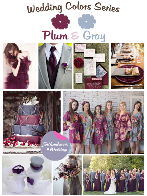 Plum and Gray Wedding Color Palette
