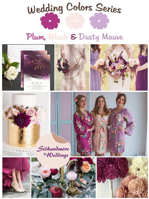 Plum, Blush and Dusty Mauve Wedding Color Palette