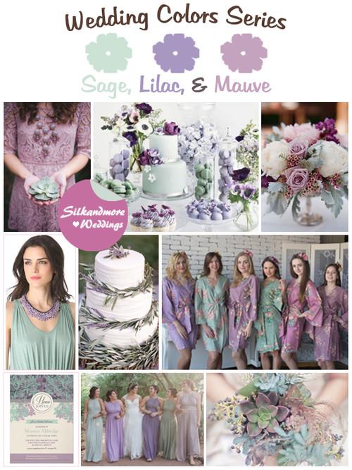 Sage, Lilac and Mauve Wedding Color Palette