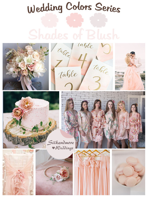 Shades of Blush Wedding Color Palette