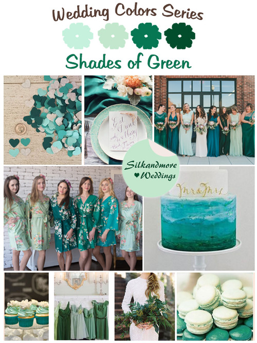Shades of Green Wedding Color Palette