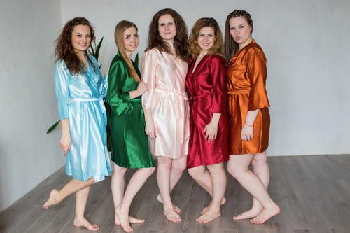 Plain Silk Robes for bridesmaids