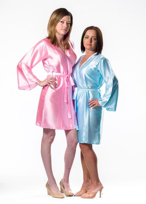 Plain Silk Robes for bridesmaids