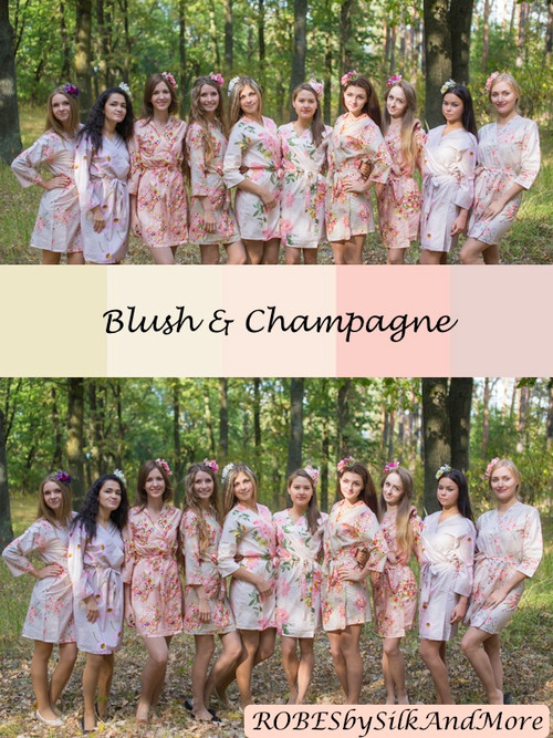Blush and Champagne Wedding Color Robes