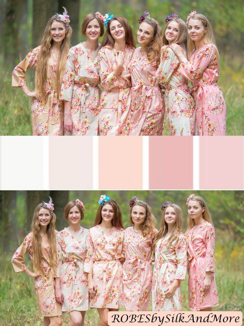 Blush and Neutral Wedding Color Robes