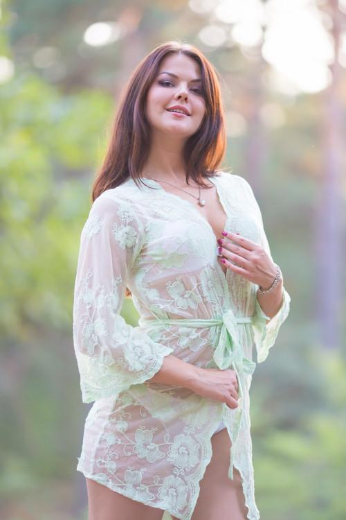 Oh Hope Mint Floral Lace Bridal Boudoir Robe