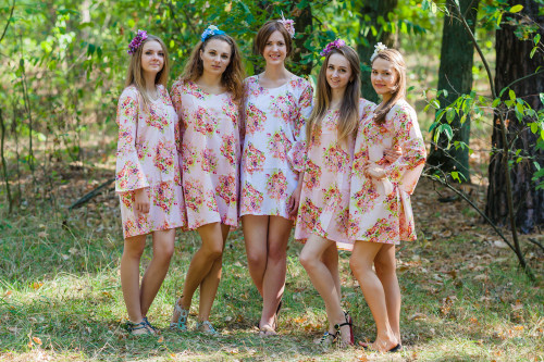 Bella Tunic Style Kaftans for bridesmaids to get ready in