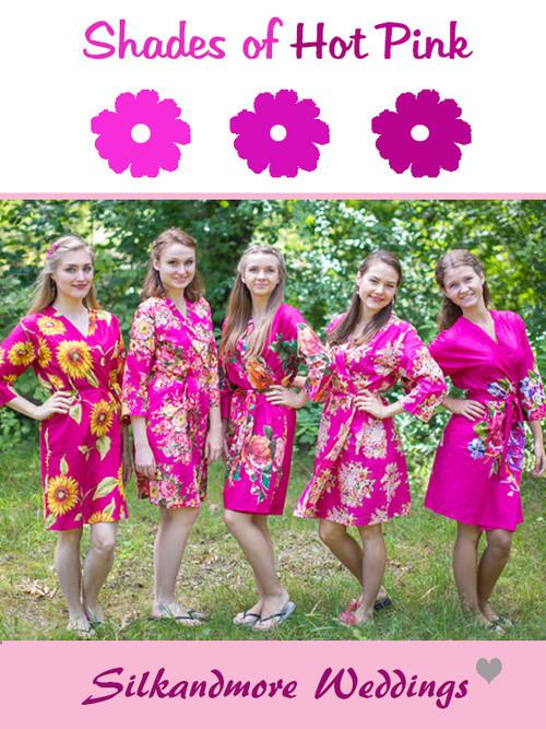 Assorted Magenta Robes   SilkandMore Robes
