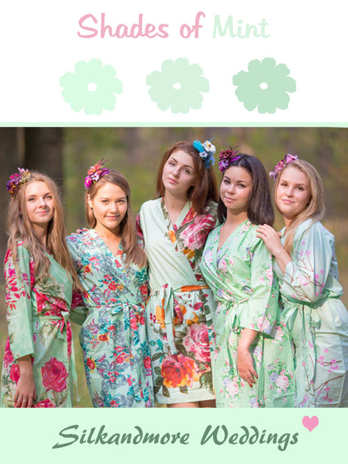 Assorted Mint Robes | SilkandMore Robes