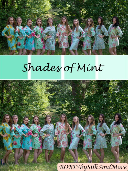 Assorted Mints | SilkandMore Robes