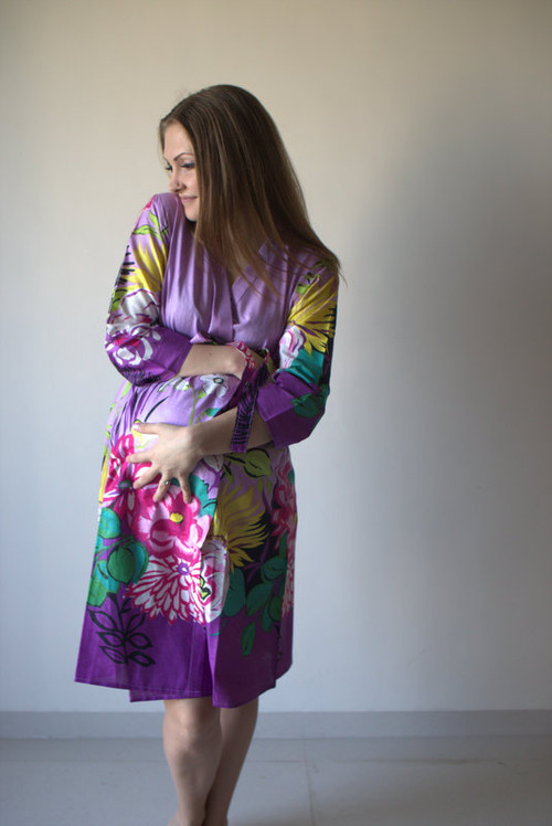 Jungle of Flowers Maternity Robe