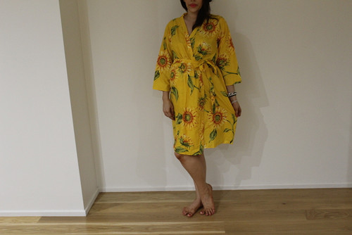 Sunflower Sweet Maternity Knee Length Robe