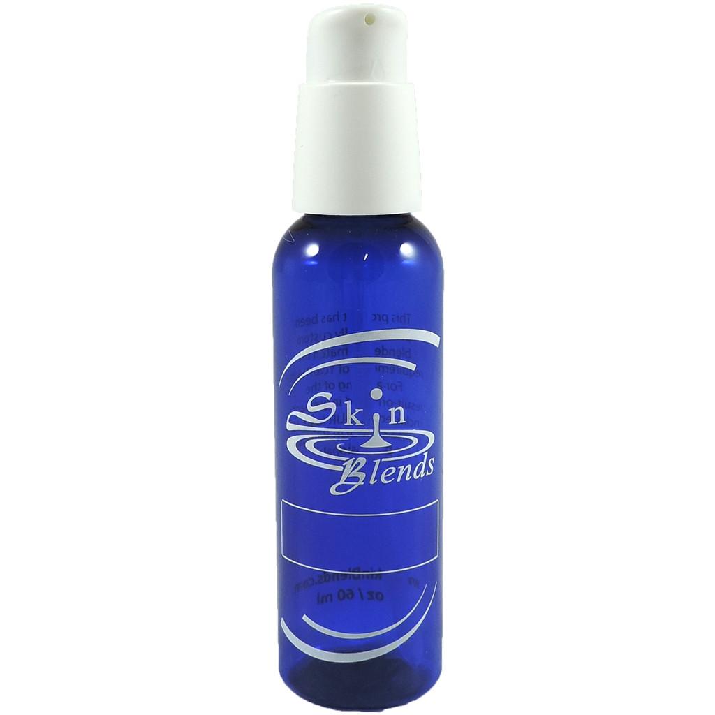 2 oz Pump Top Blue Bottles