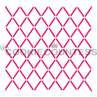 """Overall size approximately 5.5"""" x 5.5"""". PINK sections in image are the open sections. Stencils are 5mil Food Grade plastic, washable and reusable"""