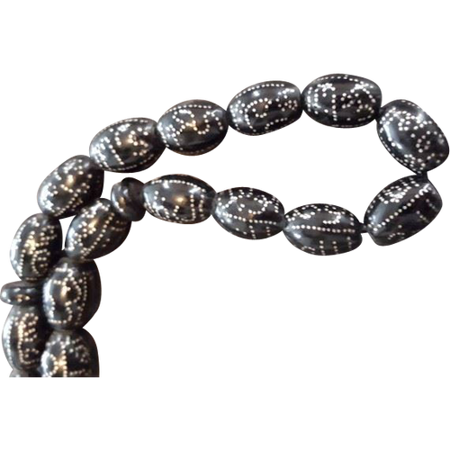 Coral Beads w/ Silver