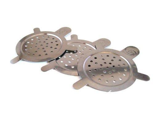 3 Screens Hookah Screen for Hookah Bowl - Stainless Steel - Reusable