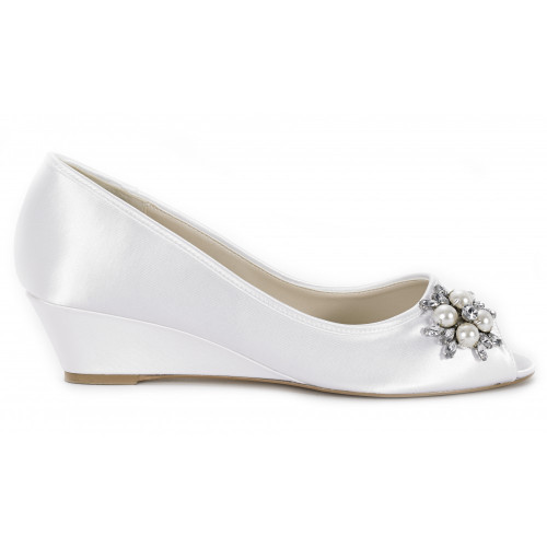 Discontinued - Frosting Dyeable Satin Bridal Wedge