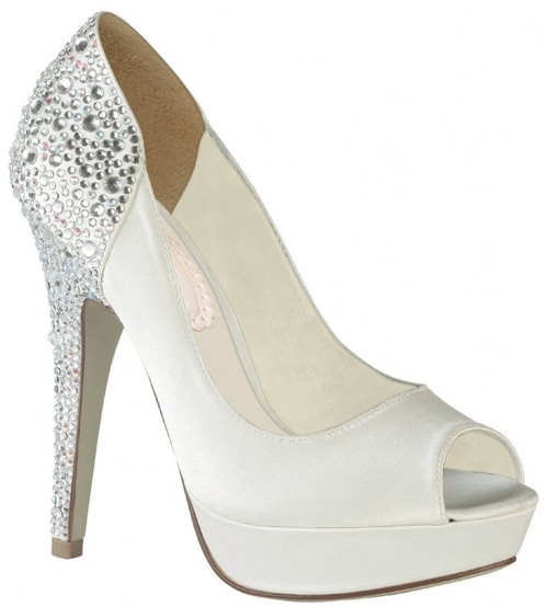Sample-Discontinued - Starry Dyeable Satin Bridal Pump