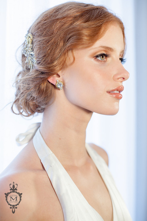 Justine M. Couture Capella Stud Earrings