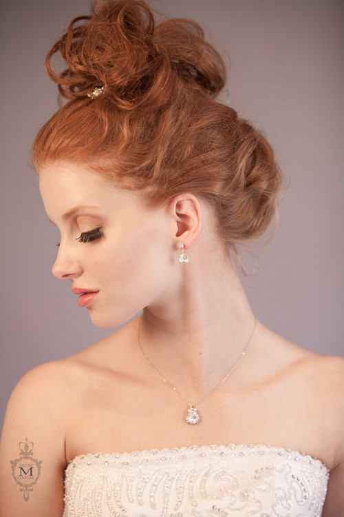 Justine M. Couture Pear Drop Earrings
