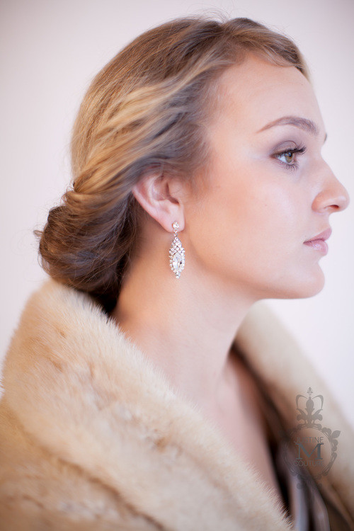Justine M. Couture Valentine Earrings