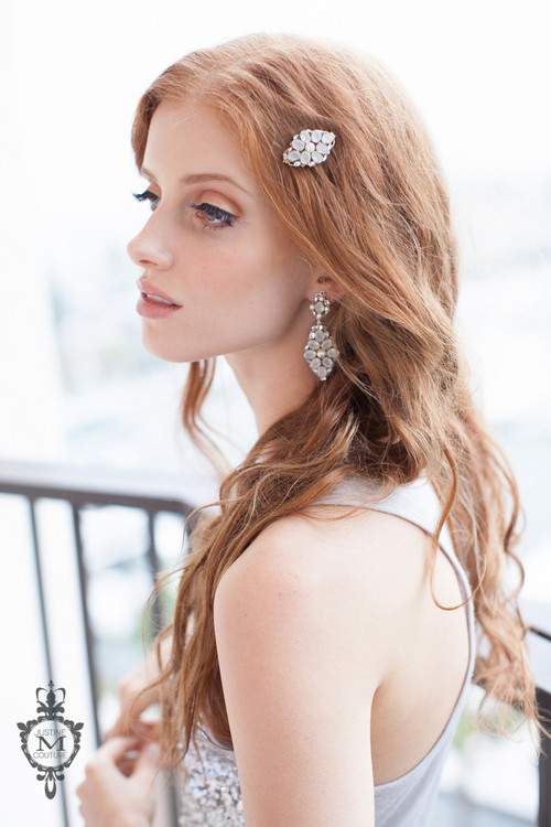 Justine M. Couture Sea Flower Hair Ornaments -Set of 2