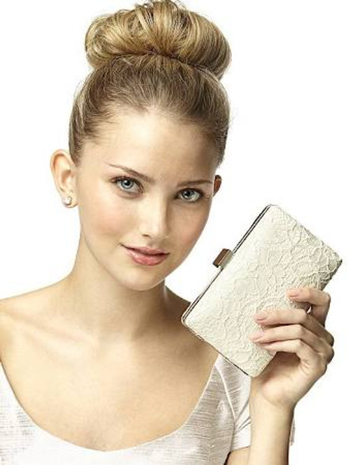 Crocheted Lace Bridal Clutch